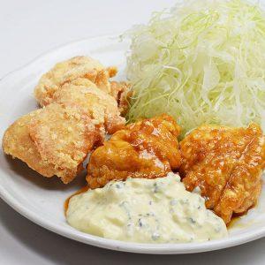 チキン南蛮と鶏から定食
