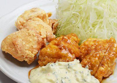 チキン南蛮と鶏からコンビ定食